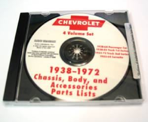 Chevrolet Parts Book, On CD. 38-64 Cars, 38-72 Trucks & 53-64 Corvette Photo Main