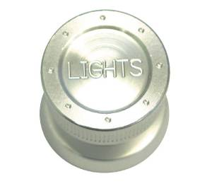 "Brushed Aluminum ""Lights"" Knob - GM Applications Photo Main"