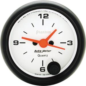"Instrument Gauges - Auto Meter Phantom Series 2-1/16"" Electric Clock Photo Main"
