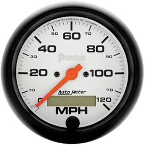 "Instrument Gauges - Auto Meter Phantom Series 3-3/8"" 0-120 Mph Electronic/ Programmable Speedometer Photo Main"