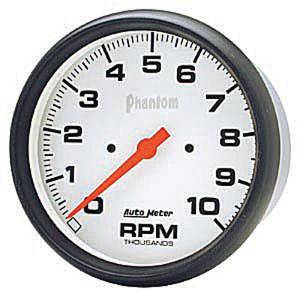 "Instrument Gauges - Auto Meter Phantom Series 5"" 0-10,000 Rpm Tachometer Photo Main"