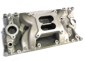 Intake Manifold -Satin Crosswind, Chevy Small Block (Non Egr) Photo Main