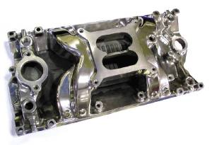 Intake Manifold -Polished Crosswind, Chevy Small Block Vortec Heads (Non Egr) Photo Main
