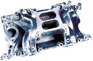 Intake Manifold - Polished Crosswind, Mopar 318-340-360 (Also Fits Magnum) Photo Main