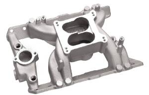Intake Manifold - Satin Crosswind, Pontiac 325-455 Photo Main