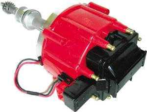 Chrome Aluminum Ford(289/ 302) Hei Electronic Distributor With 50k Coil - Red Cap Photo Main