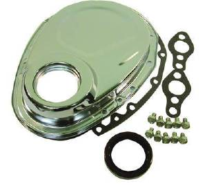 Timing Chain Cover, Chrome - Chevy 283-350 (Includes Gaskets, Seal & Hardware) Photo Main