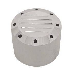 Valve Cover Breather, Enclosed Filter, Polished Aluminum -Ball Milled Photo Main