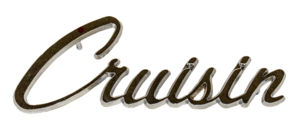 "Chrome ""Crusin"" Emblem Photo Main"