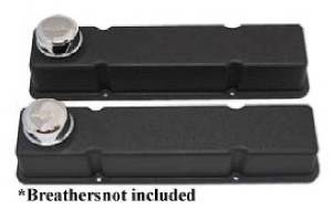 Valve Covers - Chevy Sb, Plain Black Aluminum, Tall Photo Main