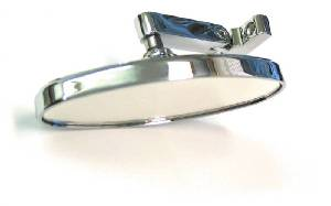 "Rear View Mirror, Chrome 5"" Oval. Screw On Style Photo Main"