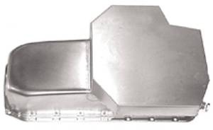 Oil Pan 1955-79 Small Block Chevy283-350  Champion Style - Driver Side Dipstick (7 Qts) -Zinc Plated Photo Main