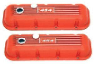 Valve Covers - Chevy Big Block With '454' Logo, Orange Finned Aluminum Photo Main