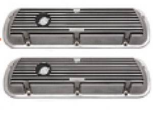 Valve Covers - Ford 289, Finned Polished Aluminum, Short Photo Main