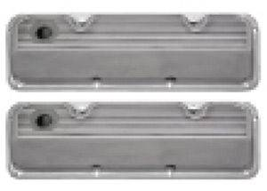 Valve Covers - Ford 351 Cleveland, Finned Polished Aluminum, Tall Photo Main