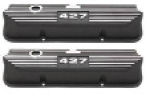 Valve Covers - Ford Fe 390-428, 427 Logo Finned Black Aluminum Photo Main