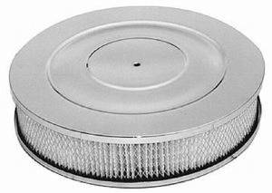 "Air Cleaner, -Chrome 14"" X 3"" Performance Style - Paper Element & Hi-Lip Base Photo Main"