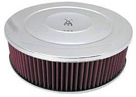 "Air Cleaner, Chrome 14"" X 4"" Performance Style -Washable Element & Hi-Lip Base Photo Main"