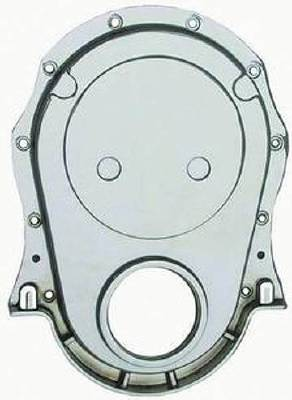 Timing Chain Cover Set -Chrome Aluminum BB Chevy (Includes Gaskets, Seal & Hardware) Photo Main