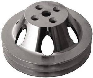 Water Pump Pulley (Short Water Pump) Single Groove, Satin Aluminum Big Block Chevy  Photo Main