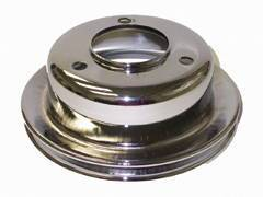 Chrome Ford 1965-66 289 Single Groove Pulley - Lower Photo Main