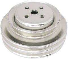 Chrome Ford 1964-73 289 Double Groove Pulley - Upper (For Calif. Smog Pump Only) Photo Main