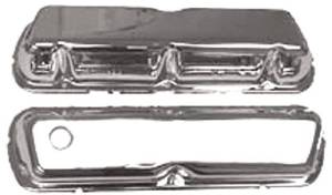 Chrome 1986-95 Small Block Ford 5.0 L Valve Cover - Unbaffled (Includes Grommets) Photo Main