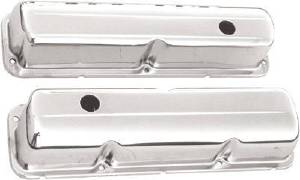 Chrome 1958-76 Ford 352-390-406-427-428 V8 Valve Cover - Baffled (Inlcudes Grommets) Photo Main