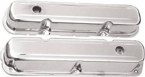 Valve Cover Chrome 1964-73 Chrysler 318-340-360 V8 Short - Baffled (Includes Grommets) Photo Main