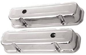 Valve Cover Chrome 1959-79 Pontiac 326-455 V8 Tall - Baffled (Includes Grommets) Photo Main