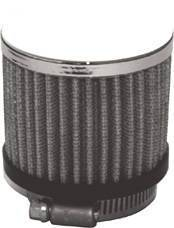 "Valve Cover Breather, Chrome Clamp-On Filter Style - 1 1/2"" Hole Photo Main"