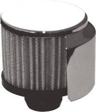 Valve Cover Breather, Chrome Push-In Filter With Shield Photo Main