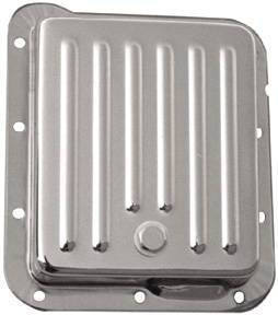 Chrome Ford C-4 Transmission Pan - Finned Photo Main