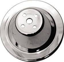 Water Pump Pulley (Short Water Pump) Single Groove, Chrome, Small Block Chevy  Photo Main