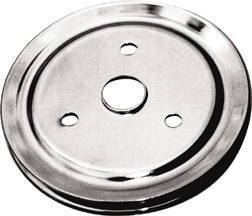 Crank Shaft Pulley, Chrome - Single Groove -Short Water Pump, Small Block Chevy 283-350 Photo Main