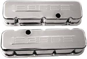 "Valve Cover Chrome 1965-95 Big Block Chevy 396-502 Tall ""396"" C.i.d. Logo - Baffled Photo Main"