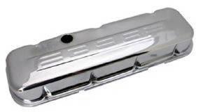 "Valve Cover Chrome 1965-95 Big Block Chevy 396-502 Short ""396"" C.i.d. Logo- Baffled Photo Main"