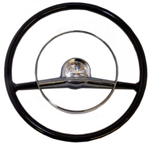 Steering Wheel Black 15''  Replaces Stock 18''  1957 Chevy Photo Main