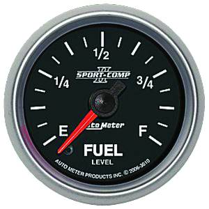 "Instrument Gauges - Auto Meter Sport Comp II 2-1/16"" Fuel Level Gauge. Programmable/ Adjustable Photo Main"