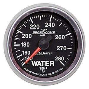 "Instrument Gauges - Auto Meter Sport Comp II 2-1/16"" Water Temp Gauge. Mechanical 140-280 Deg., Full Sweep Photo Main"
