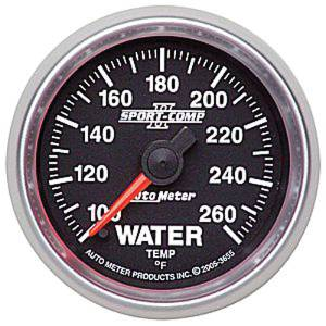 "Instrument Gauges - Auto Meter Sport Comp II 2-1/16"" Water Temp Gauge. Electric 100-260 Deg., Full Sweep Photo Main"