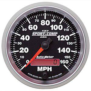 "Instrument Gauges - Auto Meter Sport Comp II 3-3/8"" Speedometer. Electronic Programmable, 0-160 Mph Photo Main"