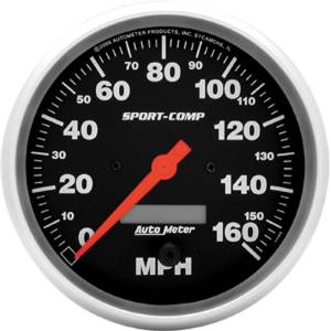 "Instrument Gauges - Auto Meter Sport Comp Series 5"" 0-160 Mhp Electronic/ Programmable Speedometer Photo Main"
