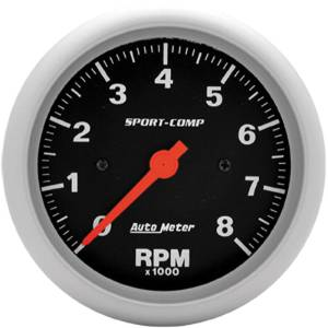 "Instrument Gauges - Auto Meter Sport Comp Series 3-3/8"" 0-8,000 Rpm Tachometer Photo Main"