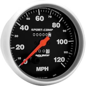 "Instrument Gauges - Auto Meter Sport Comp Series 5"" 0-120 Mhp Mechanical Speedometer Photo Main"