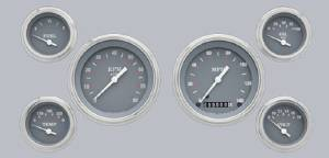 Instrument Gauges - (6 Gauge Set) - Silver-Grey Series 12v Photo Main