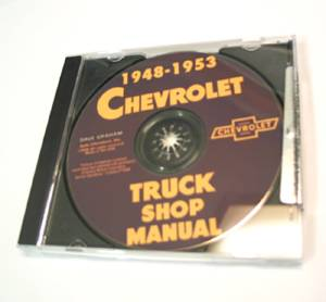 Chevrolet Shop Manual - Original 48-52 Truck On CD Photo Main