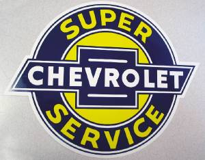 "Sign, ""Chevrolet"" Decal (As On Metal Sign) Photo Main"