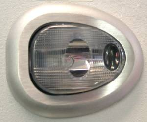 Interior Light -Single Dome, Universal With Satin Bezel & Clear Lens Photo Main