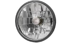 Headlight, Clear Glass With Diamond Cut Reflector 12v 7 inch (Adjure) Photo Main